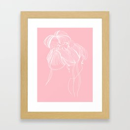 The Messy Bun Framed Art Print