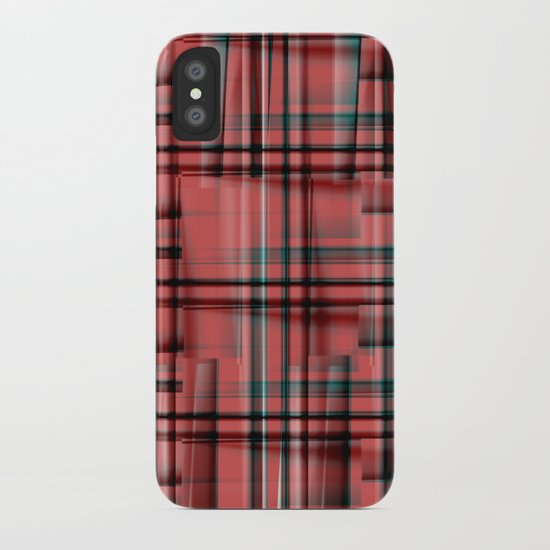 Pattern red 1 iPhone Case