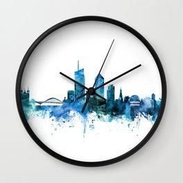 Lyon France Skyline Wall Clock