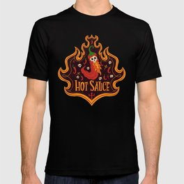 Skull Hot Sauce pepper T-shirt