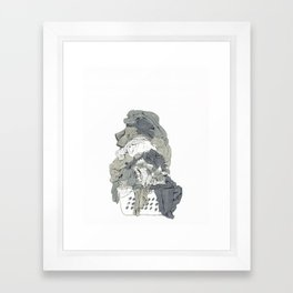 Laundry Pile Framed Art Print