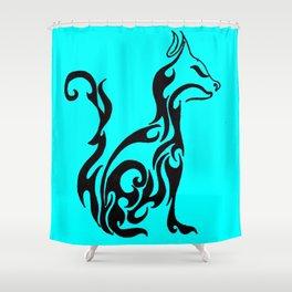 Cat blue Shower Curtain