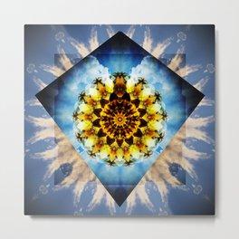 Winged Mandala. Metal Print