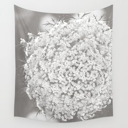 Queen Anne's Lace Flower in Soft Sepia Tones Wall Tapestry