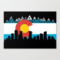 colorado Canvas Prints featuring COLORADO by Love Life Creative