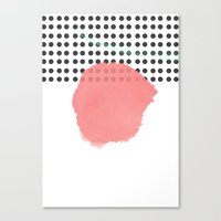 polka dot Canvas Prints featuring polka dot by Ceren Aksu Dikenci