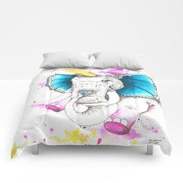 Unicorn butterphant Comforters