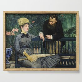Edouard Manet - In the Conservatory Serving Tray