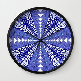 Blooming Blue Wall Clock