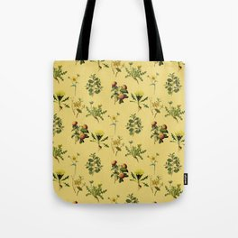 Wild Forest & Field Yellow Flower Herb Pattern Tote Bag