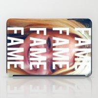 lindsay lohan iPad Cases featuring FAME - LINDSAY LOHAN by Beauty Killer Art