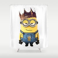 kendrick lamar Shower Curtains featuring Minking by GerritakaJey