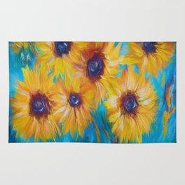 Impressionistic Sunflowers Rug