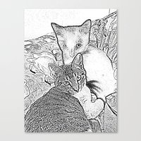 kittens Canvas Prints featuring Kittens by Michelle