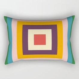 Retro Colored Square Space Rectangular Pillow