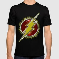 Electrified Flash Mens Fitted Tee Black MEDIUM