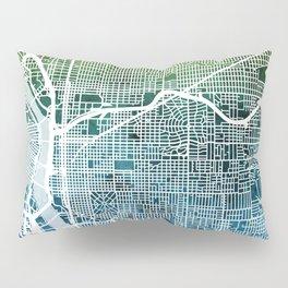 Portland Oregon City Map Pillow Sham