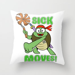 Sick Moves! Throw Pillow