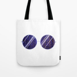 Purple Universe Glasses Tote Bag