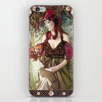 art nouveau iPhone & iPod Skins featuring Nouveau by CreativeByDesign