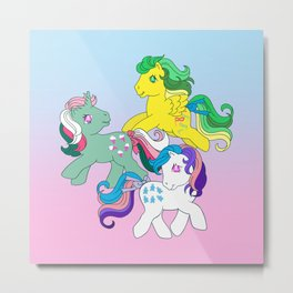 g1 my little pony Twinkle Eye Metal Print