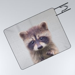 Raccoon - Colorful Picnic Blanket