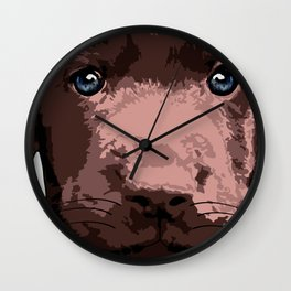 Hot chocolate labrador puppy Wall Clock
