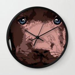 Hot chocolate labrador puppy Wall Clock