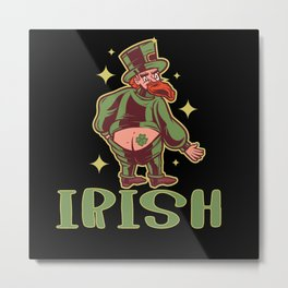 St Patrick's Day Gift idea Leprachun Tattoo with Metal Print