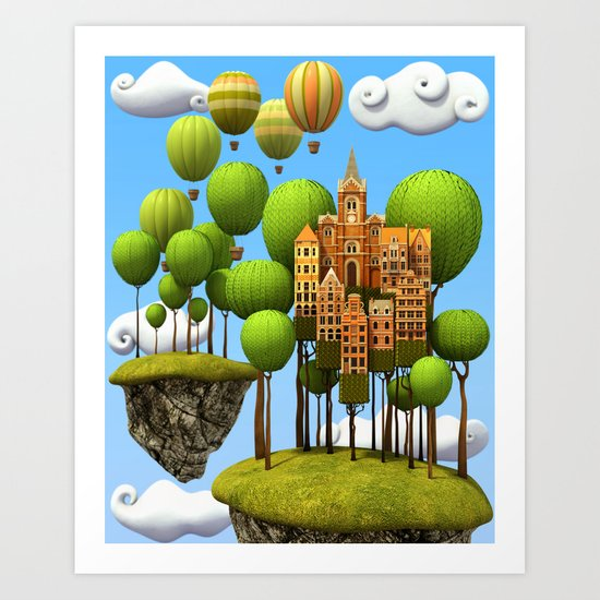 New City in the Sky Art Print