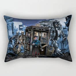 10th Doctor who trapped in the terminator war zone iPhone, ipod, ipad, pillow case and tshirt Rectangular Pillow