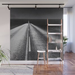 From Here to Eternity; the Road up Ahead of You black and white photography - photographs Wall Mural