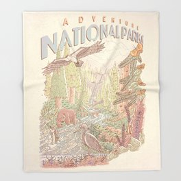Adventure National Parks Throw Blanket