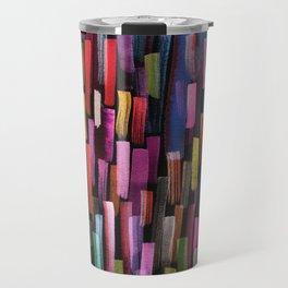 colorful brushstrokes pattern Travel Mug