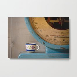 Cup and Scale Metal Print
