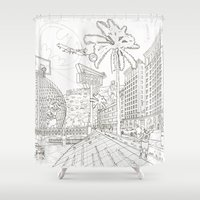 la Shower Curtains featuring LA by samellisdesign