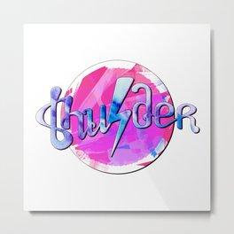 Thunder (pink and blue) Metal Print