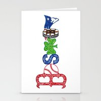patriots Stationery Cards featuring Boston by Michela Deck