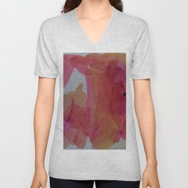 Abstract Sunset Colors Unisex V-Neck