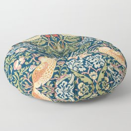 The strawberry thieves pattern by William Morris. British textile art. Floor Pillow