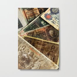 Old German money Altes Deutsches Geld Metal Print