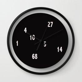 horloge chiffres Wall Clock