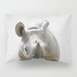 Baby Rhino - Colorful Pillow Sham