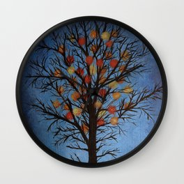 Lights on tree Wall Clock