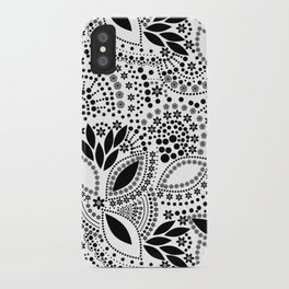 Black and white polka dot pattern . iPhone Case
