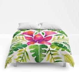 Tropical Symmetry – Pink & Green Comforters