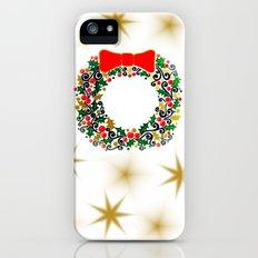 Christmas Wreath Slim Case iPhone (5, 5s)