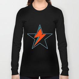 Bowie BlackStarDust (Blue) Long Sleeve T-shirt
