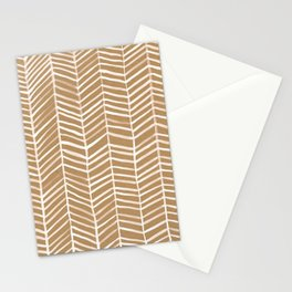 Kraft Herringbone Stationery Cards