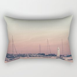 Sailing on the Boston Harbor Rectangular Pillow